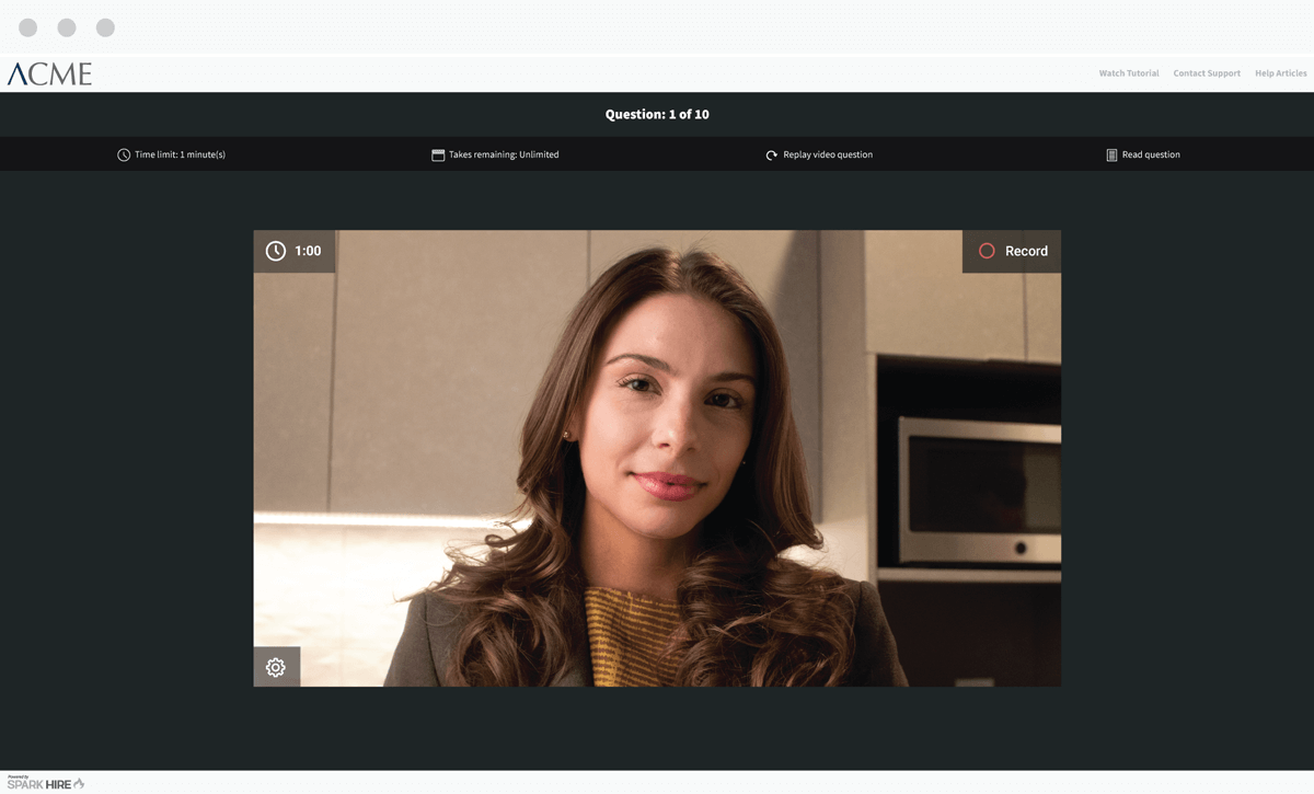 One-Way Video Interview