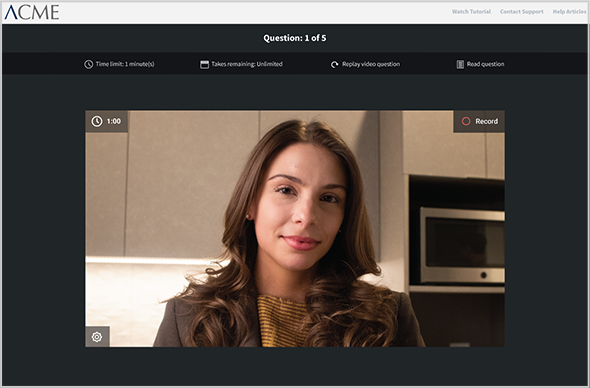 Paycor Ask candidates to complete your video interview