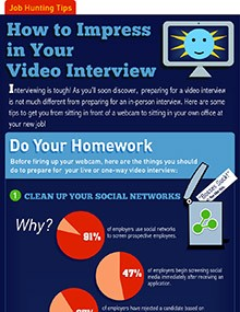 How to Impress in Your Video Interview